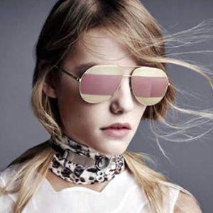 Dior Split Two-tone Aviator Sunglasses